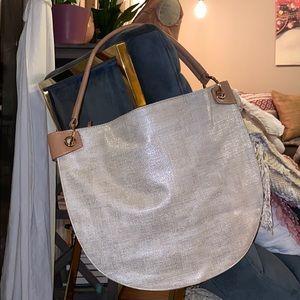 Sondra Roberts Squared Lt Gold Brown Handbag Purse